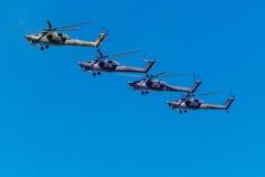 6. August 2016 Ryazan, Russland Die Hubschrauber des Militärs Lizenzfreie Stockfotos