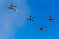 6. August 2016 Ryazan, Russland Die Hubschrauber des Militärs Stockbilder
