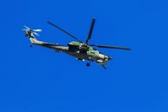 6. August 2016 Ryazan, Russland Die Hubschrauber des Militärs Stockfotos