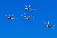 6. August 2016 Ryazan, Russland Die Hubschrauber des Militärs Lizenzfreies Stockbild