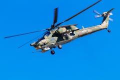 6. August 2016 Ryazan, Russland Die Hubschrauber des Militärs Stockfotografie