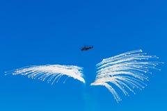 6. August 2016 Ryazan, Russland Die Hubschrauber des Militärs Stockbild