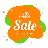 15 August Sale,Poster, Banner Design on Tricolors Background. 15 August Sale, Banner, Poster Design on Tricolors Background Royalty Free Stock Photos