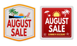 August sale stickers Royalty Free Stock Photo