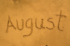 August in the sand Royalty Free Stock Images