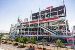 August 2, 2017 Santa Clara/CA/USA - Outside view of the new Levi`s Stadium, San Francisco bay area, California royalty free stock photo