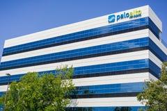August 2, 2017 Santa Clara/CA/USA - Palo Alto Networks HQ building stock photography