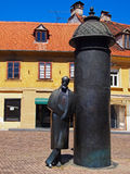August Senoa statue in Vlaska street, Zagreb, Croatia Royalty Free Stock Photography