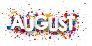 August Sign. Royalty Free Stock Photography