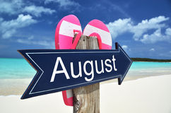 AUGUST sign Stock Image