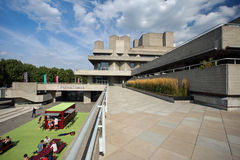 August 2017, Southbank, London, England. A view of the National Theatre, London Royalty Free Stock Images