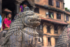 18. August 2014 - Statue des Affen in Patan, Nepal Lizenzfreie Stockfotos