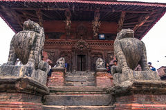 August 18, 2014 - Statue of monkey in Patan, Nepal. August 18, 2014 - Some statues of monkeys in Patan, Nepal Royalty Free Stock Images