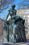 August Strindberg Monument in Stockholm, Sweden Stock Photography