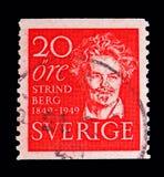 August Strindberg, serie, vers 1949 Image stock