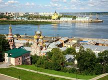 August summer view of scenic Nizhny Novgorod Stock Image