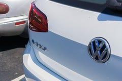 August 24, 2017 Sunnyvale/CA/USA - Details of a VW e-golf car