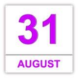 31. August Tag auf dem Kalender Lizenzfreie Stockfotografie