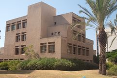 August 17 2009 - Tel Aviv University. Tel Aviv University building. The university itself is the largest institute of higher learning in Israel. It was founded royalty free stock image
