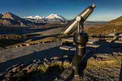AUGUST 30, 2016 - Telescope and Mount Denali in distance, Denali National Park, Alaska Royalty Free Stock Image