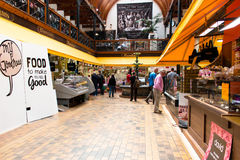 August 4th, 2017, Cork, Ireland - customers at the English Market, a municipal food market in the centre of Cork Royalty Free Stock Images