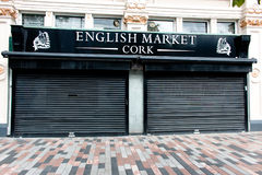 August 4th, 2017, Cork, Ireland - front entrance of the English Market, a municipal food market in the centre of Cork Stock Photo