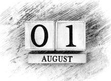 August 1th Stock Photos