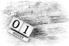 August 1th Stock Photography