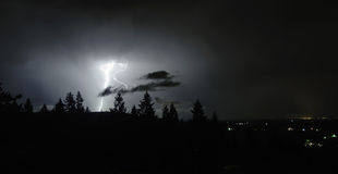 An August Thunderstorm In the Mid Willamette Valley Royalty Free Stock Images