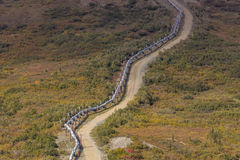 August 26, 2016: Trans-Alaska Pipeline moves crude oil from Prudhoe Bay to the ice free port of Valdez, Alaska Royalty Free Stock Photography