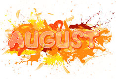 August. Royalty Free Stock Photo