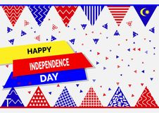 31 August - Vector illustration Malaysia Independence Day Patriotic Design. Happy Independence Day Vector Greeting Card. 31 August - Vector illustration stock illustration