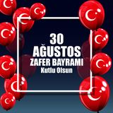 30. August Victory Day Turkish Speak 0 Agustos, Zafer Bayrami Kutlu Olsun Auch im corel abgehobenen Betrag Lizenzfreie Stockfotos