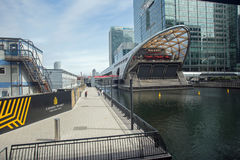 August 2017, A view of The Big Easy Restaurant at West India Quay, London, England Stock Photos