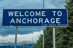 AUGUST 25, 2016 - Welcome to Anchorage, Alaska Royalty Free Stock Image