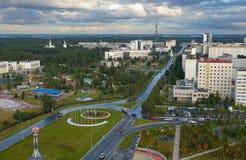 Russia, Kogalym, Western Siberia. 25 August 2015 Western Siberia ,Kogalym — city of district subordination in the Khanty-Mansi Autonomous district, a railway Stock Photos