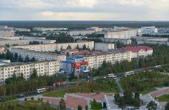 Russia, Kogalym, Western Siberia. 25 August 2015 Western Siberia ,Kogalym — city of district subordination in the Khanty-Mansi Autonomous district, a railway Stock Image