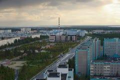Russia, Kogalym, Western Siberia. 25 August 2015 Western Siberia ,Kogalym — city of district subordination in the Khanty-Mansi Autonomous district, a railway Stock Photo