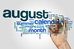 August word cloud Royalty Free Stock Photos