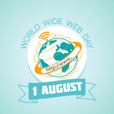 1 august World Wide Web Day Stock Photography