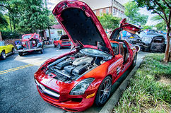 August 22 York SC - vendors attractions and classic car show at Royalty Free Stock Photo