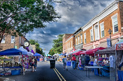 August 22 York SC - vendors attractions and classic car show at Royalty Free Stock Images