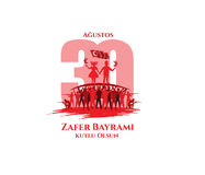 30 august Zafer Bayrami stock illustrationer