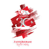 30 august zafer bayrami. Vector illustration 30 august zafer bayrami Victory Day Turkey. Translation: August 30 celebration of victory and the National Day in Stock Image