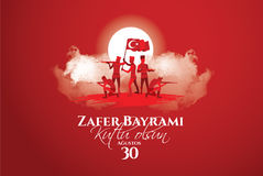 30 august zafer bayrami. Vector illustration 30 august zafer bayrami Victory Day Turkey. Translation: August 30 celebration of victory and the National Day in Stock Photos