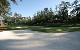 Augusta 16 kursu golfa dziura Obrazy Royalty Free