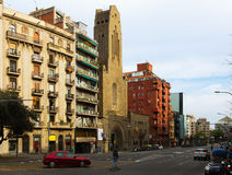 Augusta avenue in Barcelona, Spain Royalty Free Stock Images