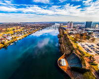 Augusta Ga. A drones eye view of Augusta Ga, Home of Masters golf stock photo