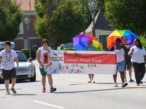 Augusta Gay Pride Parade lizenzfreie stockfotografie
