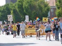 Augusta Gay Pride Parade stockfotos